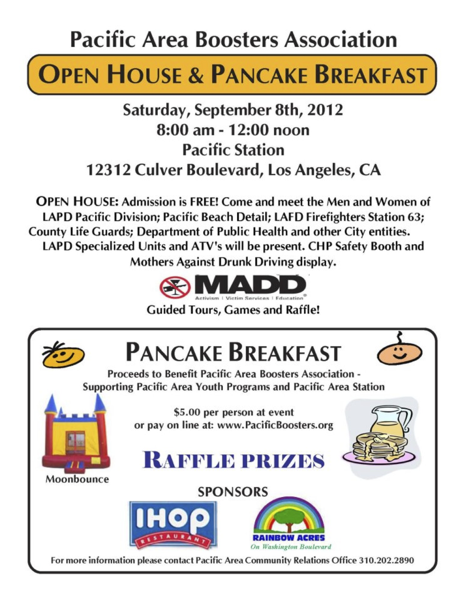 Pacific Division LAPD Open House and Breakfast | South Mar Vista ...