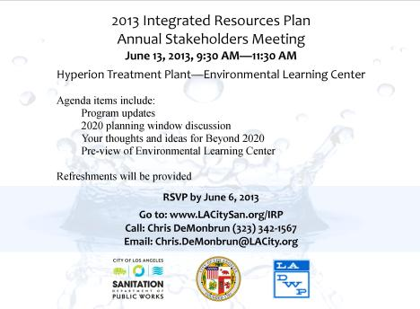 2013 IRP Annual Stakeholders Meeting Invitation