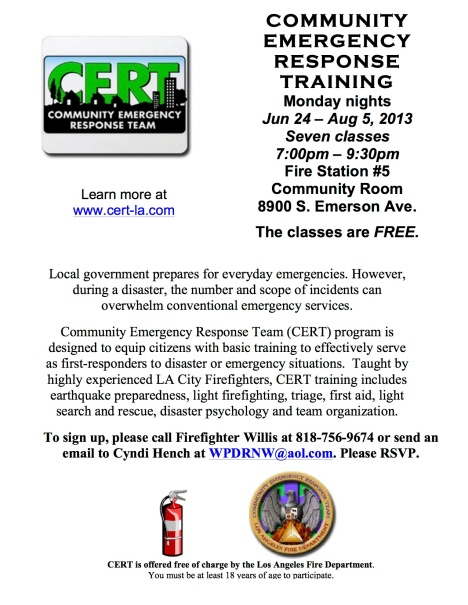 CERT training in Westchester 0613