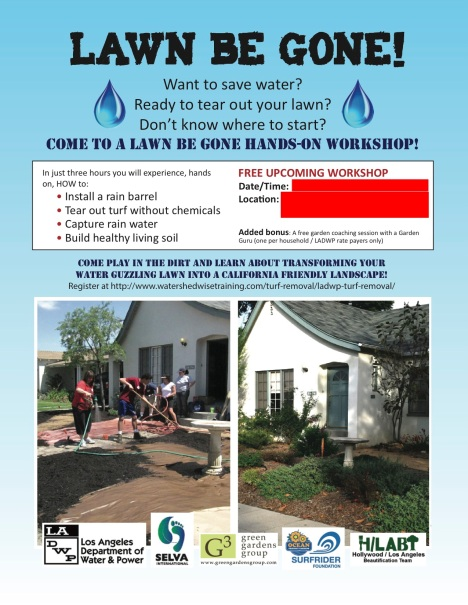 LawnBeGone workshop flyer