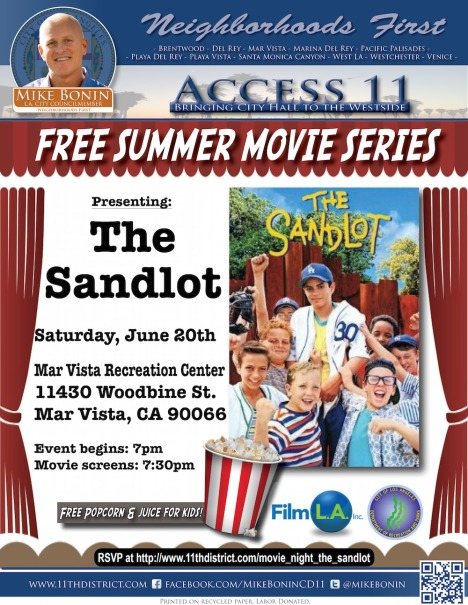 A11 2015 Summer Movie Series Sandlot