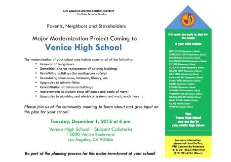 FLIER Mtg #2 - VENICE HS - Community Meeting Flier 12-1-15 copy