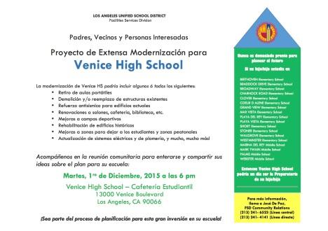 FLIER Mtg #2a - VENICE HS - Community Meeting Flier 12-1-15 copy