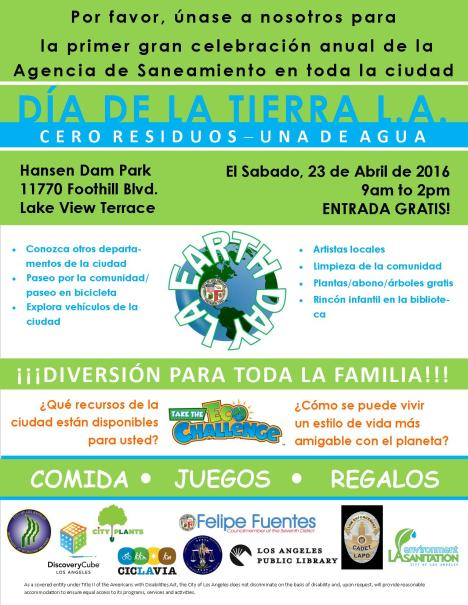 2016 Earth Day LA flyer - FINAL SP