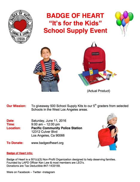 Backpack & School Supply Kit Giveaway Needs sponsors | South