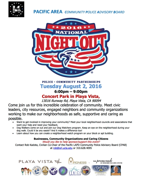 National Night Out 2016 - Playa Vista copy