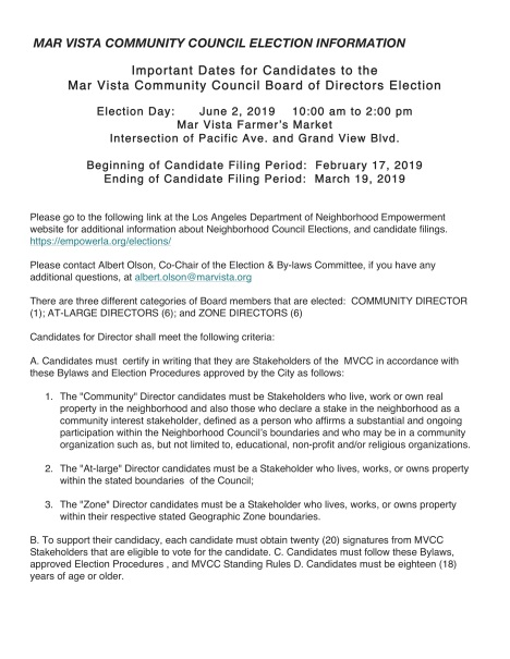 MAR VISTA COMMUNITY COUNCIL ELECTION INFORMATION copy