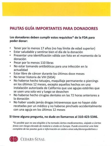Blood Drive 8-28-19Spanish